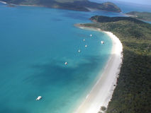 Australian Beach. Whitehaven Beach at the Whitsunday Island group, Queensland, Australia Royalty Free Stock Image