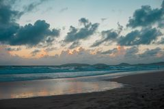 Australian Beach around Rainbow Beach in Queensland, Australia. Australia is a continent located in the south part of the earth In. Summer time, international royalty free stock images
