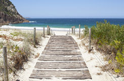 Australian Beach Boardwalk stock image