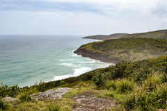 Australian beach coastline at 'Hat Head'. Coastline at 'Hat Head' - on the east coast of Australia Royalty Free Stock Photo