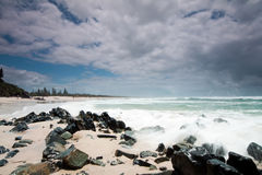 Australian beach during the day royalty free stock photo