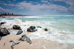 Australian beach during the day royalty free stock photography