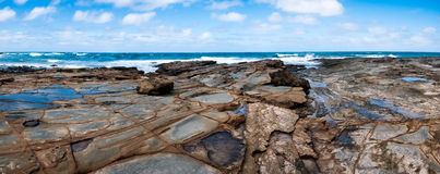 Australian beach panorama Royalty Free Stock Images