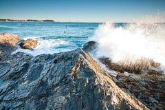 Australian beach in queensland Stock Images