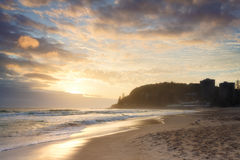Australian beach at sunrise Royalty Free Stock Images