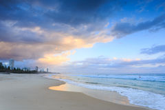 Australian beach at sunrise Royalty Free Stock Photos