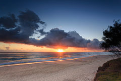 Australian beach at sunrise Royalty Free Stock Photo