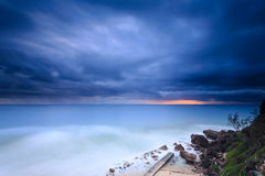 Australian beach at sunrise Stock Image