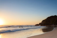 Australian beach at sunrise Stock Photography