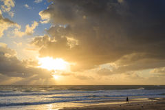 Australian beach at sunrise Royalty Free Stock Image