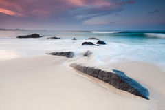Australian beach at twilight Royalty Free Stock Photography