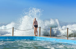 Australian Beach Waves Pool Swimming Royalty Free Stock Image
