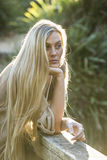 Australian Beauty with Long Blond Hair Royalty Free Stock Photos
