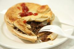 Australian beef pie Royalty Free Stock Images