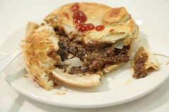 Australian beef pie Royalty Free Stock Photo