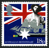 Australian Bicentenary UK Postage Stamp Stock Image