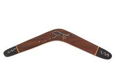 Australian boomerang. Genuine Australian hand made aboriginal boomerang Stock Photography