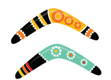 Australian boomerang vector. Illustration based on aboriginal style of boomerang Stock Photography