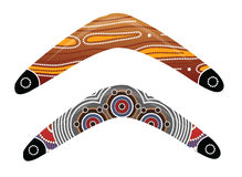 Australian boomerang vector. Illustration based on aboriginal style of boomerang Stock Photos