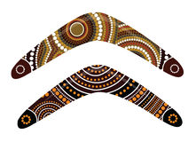 Australian boomerang vector. Illustration based on aboriginal style of boomerang Royalty Free Stock Photo