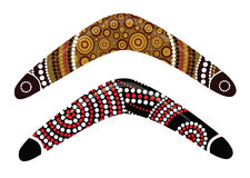 Australian boomerang vector. Illustration based on aboriginal style of boomerang Royalty Free Stock Image