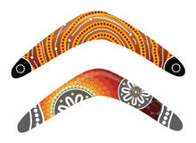 Australian boomerang vector. Illustration based on aboriginal style of boomerang Royalty Free Stock Images