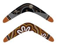 Australian boomerang vector. Illustration based on aboriginal style of boomerang royalty free illustration