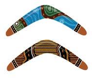 Australian boomerang vector. Illustration based on aboriginal style of boomerang vector illustration