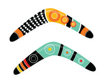 Australian boomerang vector. Illustration based on aboriginal style of boomerang Royalty Free Stock Image