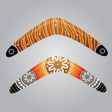 Australian boomerang vector. Illustration based on aboriginal style of boomerang Stock Images