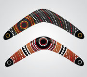 Australian boomerang vector. Illustration based on aboriginal style of boomerang Stock Photo