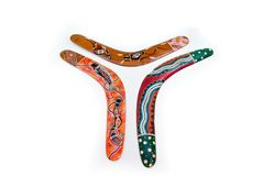 Australian boomerangs Stock Photography
