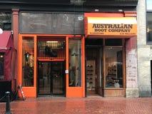 Australian Boot Company, Vancouver, A.C. fotos de archivo libres de regalías