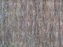 Australian Brush Fence Stock Photo