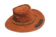 Australian Bush Hat. Small Australian bush hat, isolated on white Royalty Free Stock Photography