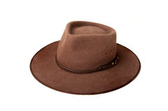 Australian Bush Hat. Typical Australia Bush or Country Hat also known locally as an Akubra royalty free stock images