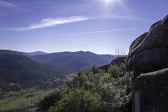 Australian Bushland Mountains. A wide angle shot of Australian rocky bushland mountains Stock Image