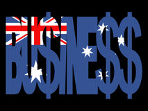 Australian Business text Royalty Free Stock Photos