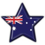Australian button star heart Royalty Free Stock Image