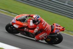 Australian Casey Stoner of Ducati Marlboro at 2007 Royalty Free Stock Photo