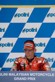 Australian Casey Stoner of Ducati Marlboro winner Royalty Free Stock Photos