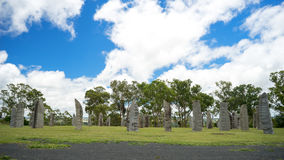 Australian Celtic Standing Stones. A landscape view of the Australian Standing Stones located at Glen Innes in New South Wales in Australia. It is one of the Stock Photography