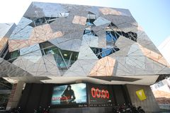 Australian Centre for the Moving Image at Federation Square in Melbourne. MELBOURNE, AUSTRALIA - JANUARY 22, 2019: Australian Centre for the Moving Image at royalty free stock photography