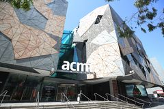 Australian Centre for the Moving Image at Federation Square in Melbourne stock photo