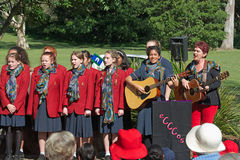 Australian Choir. Mary MacKillop College Choir the Ecccos during the Sorry Day Ceremony, 26 May 2016, Kalinga Park, Brisbane, Australia. Each year from 27 May to Royalty Free Stock Image