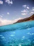 Australian Coast - Above and Below royalty free stock photo