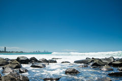 Australian coast during the day Royalty Free Stock Photography