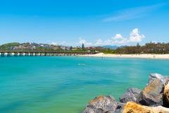 Australian coastal view at Coffs Harbour, Australia. Coffs Harbour, NSW, Australia- December 20, 2017 : Australian coastal view at Coffs Harbour, Australia, one Royalty Free Stock Image
