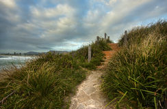 Australian Coastline. A beachside view in Bulli, Wollongong Royalty Free Stock Photo