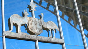 Australian Coat of Arms. On Sydney's Maritime Museum Stock Image